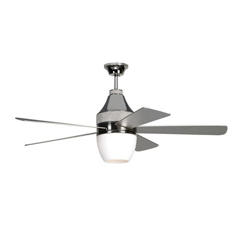 monte carlo ceiling fans monte carlo nikki 52 in polished nickel ceiling fan