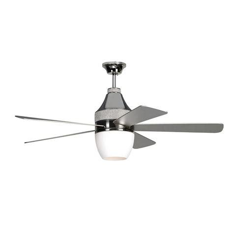 polished nickel ceiling fan monte carlo nikki 52 in polished nickel ceiling fan