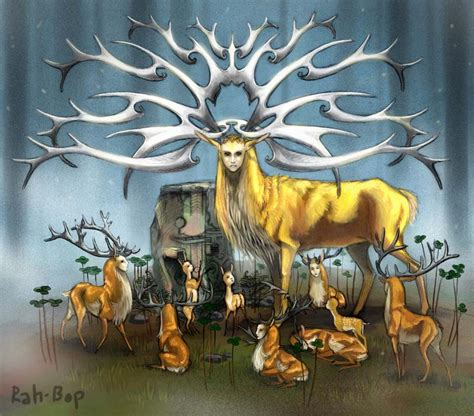 Trippy Wall Murals deer god by rah bop on deviantart