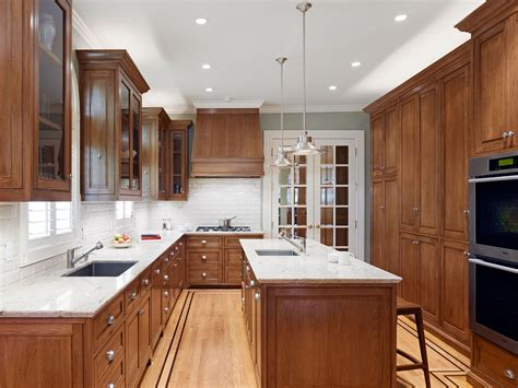 pictures of kitchens with oak cabinets dark oak cabinets kitchen traditional with bar cabinetry
