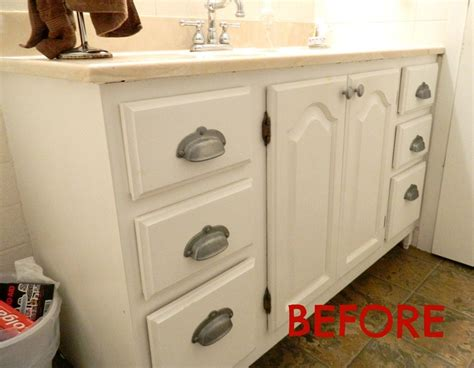 bathroom vanity update painting a sink an easy tutorial