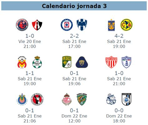Calendario De Liguilla Mexicana 2015 Calendario Resultados Jornada 9 Futbol Mexicano Apertura