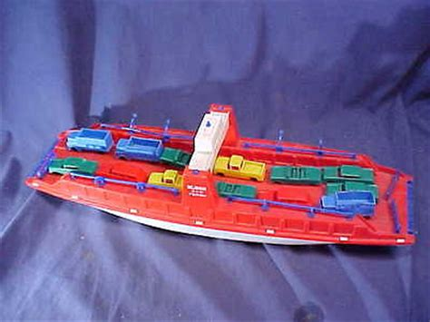 ferry boat toy 1960s eldon plastic toy auto carrier ferry boat with 13