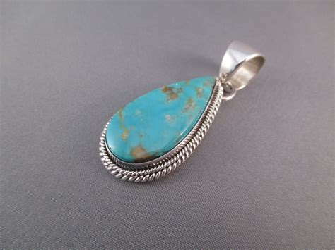 sterling silver for jewelry royston turquoise sterling silver pendant by artie