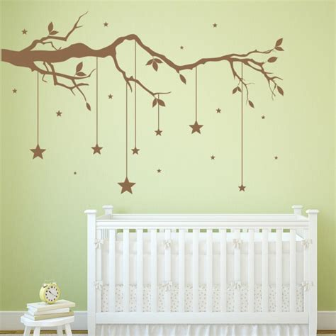 Hanging Decor For Nursery Tree Branch Wall Sticker Hanging Wall Decal Baby Nursery Home Decor