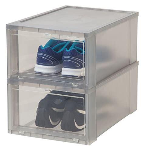 iris drop front shoe box iris large drop front shoe box 6 pack gray new ebay