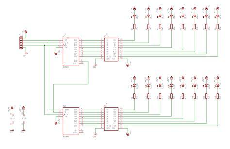led bar graph resistors clocked serial io 16 led bargraph display schematic