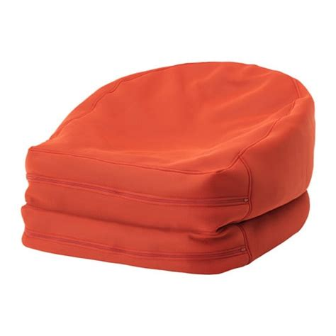 bean bag chairs for ikea bussan beanbag in outdoor orange ikea