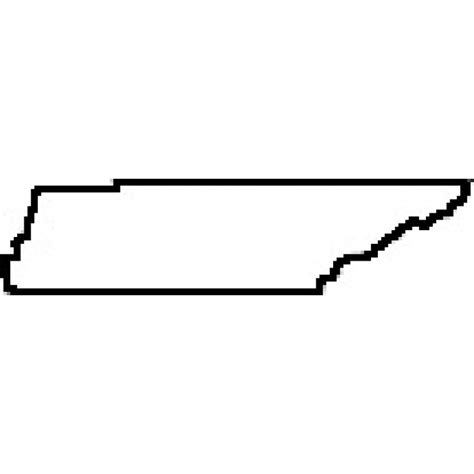 Tennessee Outline Map by State Of Tennessee Outline Map Rubber St
