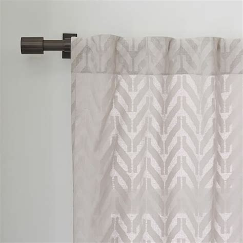 sheer chevron curtains sheer chevron curtain frost gray west elm