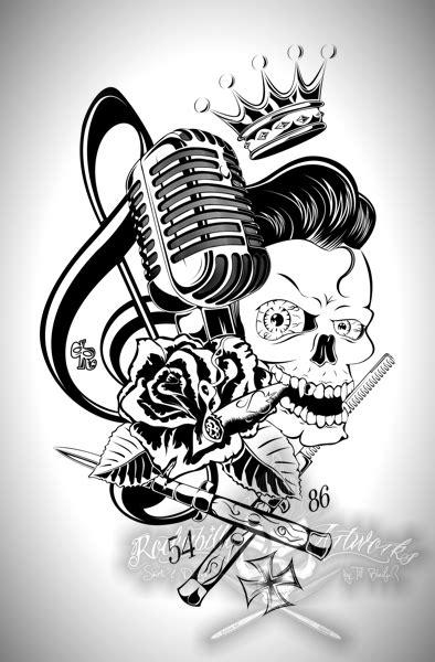 microphone tattoo vorlagen king of rockabilly by actionrokka on deviantart