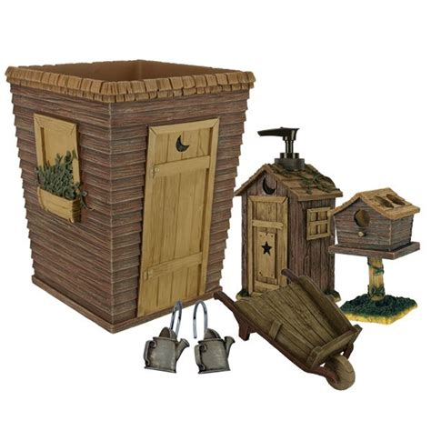 country outhouse bathroom decor aren t these a riot for your bathroom outhouses bath