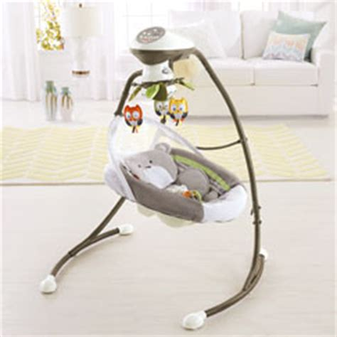 fisher price baby swings that plug in moonlight meadow deluxe cradle n swing