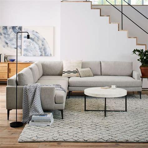 west elm andes sofa andes l shaped sectional west elm