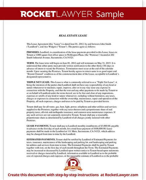net lease template net lease form nnn lease agreement template with