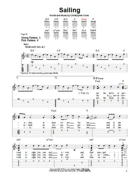 nautical music sailing by christopher cross easy guitar tab guitar