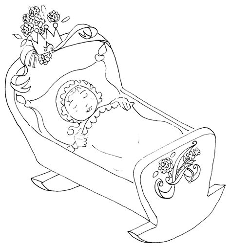 coloring page baby sleeping sleeping beauty with the real sleeping beauty ballet