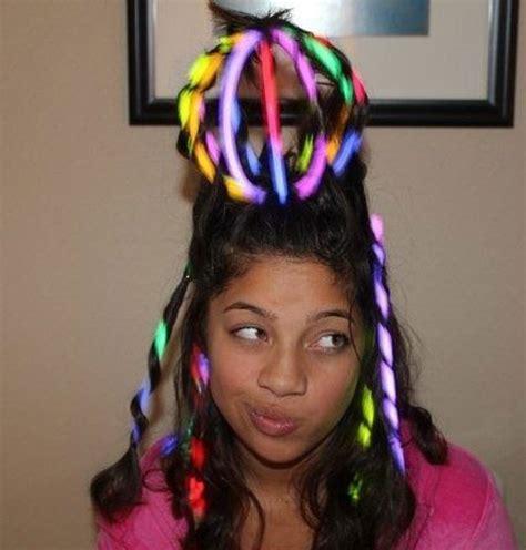 crazt hair balls 50 awesome glow stick ideas