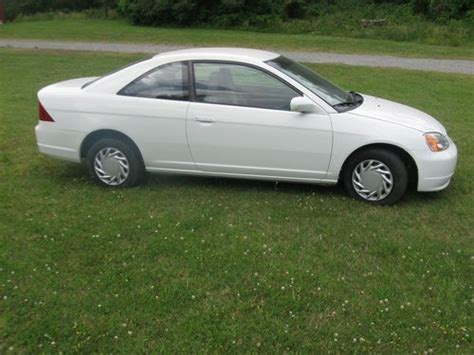 white 2 door honda civic find used 2001 white honda civic lx two door coupe for