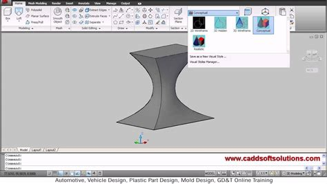 autocad walkthrough tutorial autocad 3d loft cross section path guide command