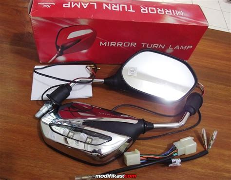 Spion Led Motor Beat baru jual borongan original spion lu led motor vario beat 25 unit