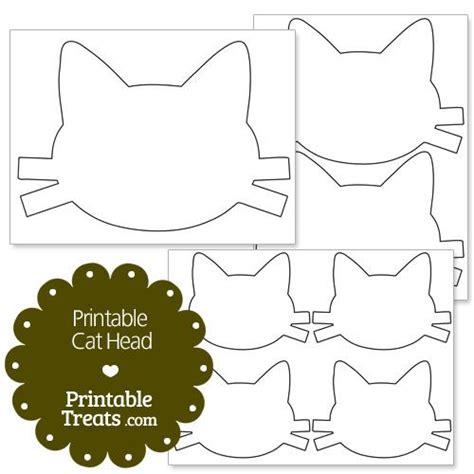 printable cat head  printabletreatscom cat party