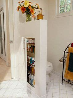 26 great bathroom storage ideas 1000 ideas about pony wall on half walls wall decals and columns