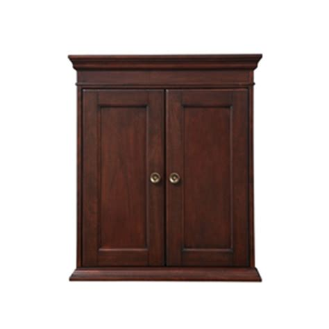 shop allen roth rosemere auburn wall cabinet common 24