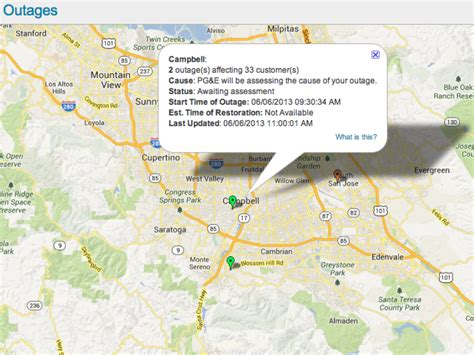 san jose power outage map cbell residents in the due to outage cbell