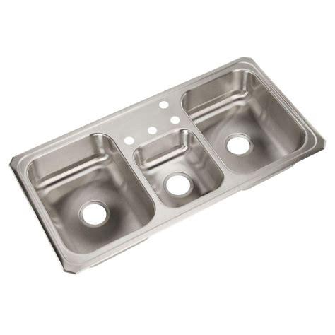 3 bowl kitchen sink triple bowl drop in kitchen sink