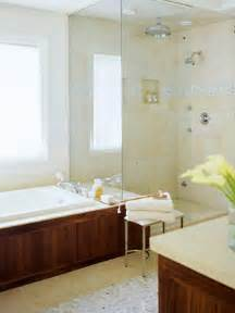 Baths And Showers For Small Bathrooms Small Bathroom Solution Glass Enclosed Shower Separate Shower And Tub Open Traditional