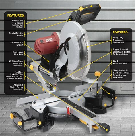 12 In Double Bevel Sliding Compound Miter Saw With Laser