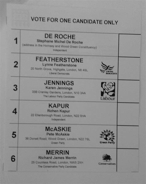 ballot paper template henry 2 0 the ballot paper in hornsey and