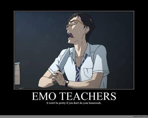 Emo Memes - anime do your homework meme