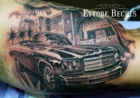 miami tattoos car miami by ettore bechis tattoonow