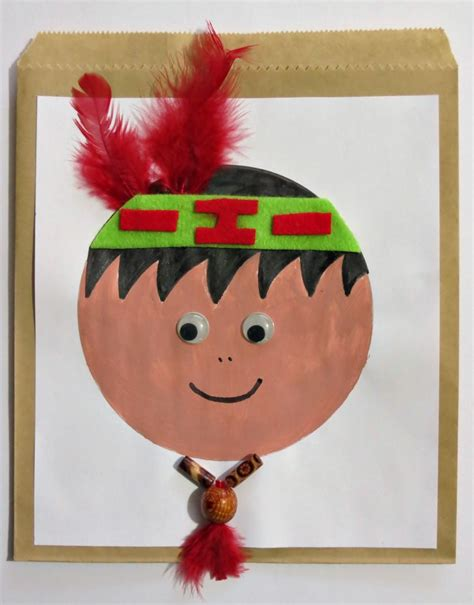 indian paper crafts pilgrim and indian thanksgiving treat bags
