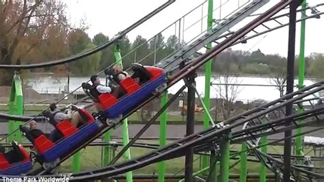 theme park kettering roller coaster off ride hd wicksteed park youtube