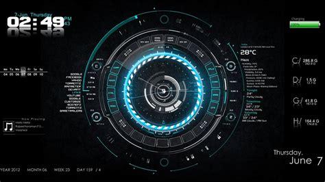clock eyes themes 25 best rainmeter skins for windows 7 8 10 agatton