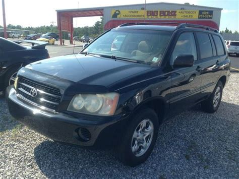 automobile air conditioning service 2003 toyota highlander lane departure warning sell used 2003 toyota highlander in hattiesburg mississippi united states for us 8 000 00