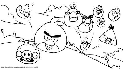 Gurita Polos Hitam gambar mewarnai angry birds untuk anak paud dan tk