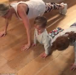 push ups before bed roxy jacenko forces her children to do push ups before bed daily mail online