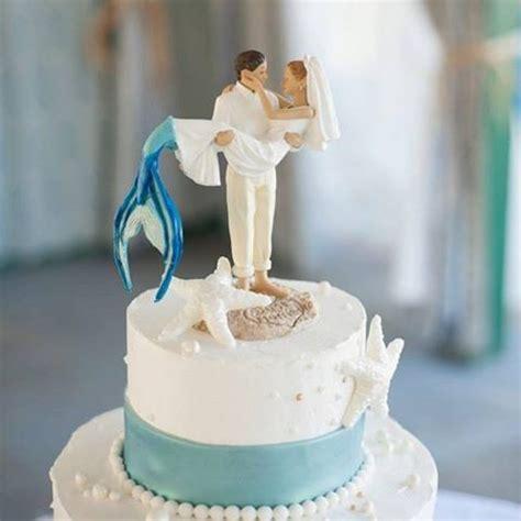 mermaid wedding cake topper for beach weddings wedding