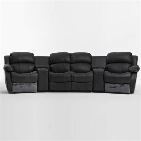 4 seat leather reclining sofa 4 seat home theatre leather