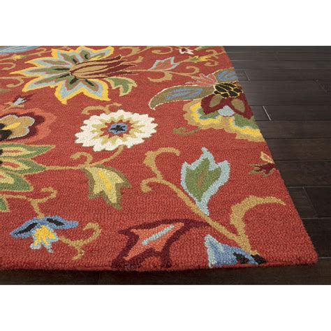 floral rugs jaipurliving hacienda floral area rug reviews wayfair