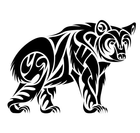 tribal bear tattoos 13 beautiful tribal only tribal