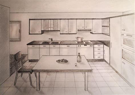 kitchen interior design drawings kitchen design drawings kitchen by 1 point perspective drawing great drawing