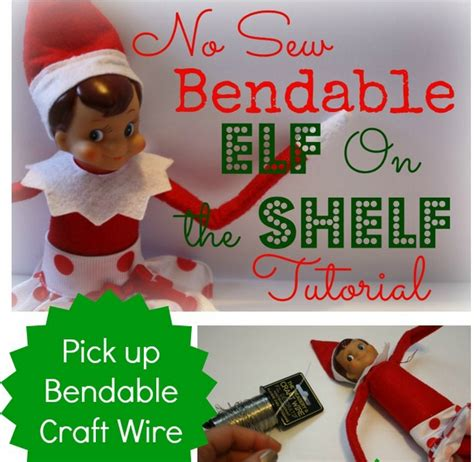 On The Shelf Yourself by No Sew Bendable On The Shelf Tutorial Easy Diy Craft