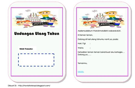 template label undangan 135 download undangan ulang tahun word
