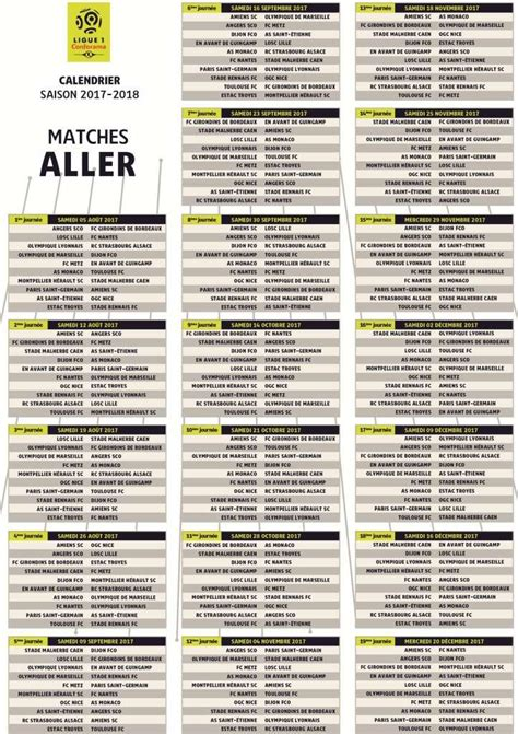 Calendrier 1 4 Ligue Des Chions Foot D 233 Couvrez Le Calendrier De La Ligue 1 Pour La