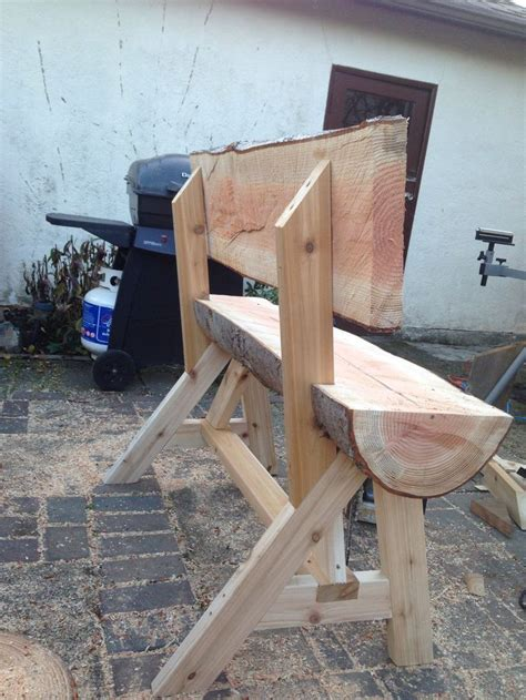 chainsaw bench logs log bench ripped with chainsaw log projects pinterest